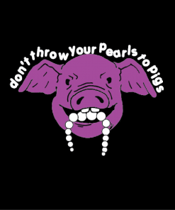 Pearls to pig pullover